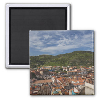 Italy, Sardinia, Bosa. Town view from Castello 2 Magnet