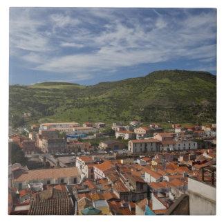 Italy, Sardinia, Bosa. Town view from Castello 2 Tile
