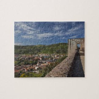 Italy, Sardinia, Bosa. Town view from Castello Puzzles