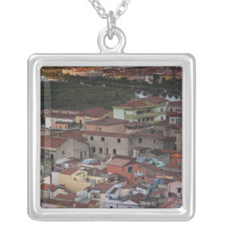 Italy, Sardinia, Bosa. Town view from Castello Silver Plated Necklace
