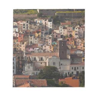 Italy, Sardinia, Bosa. Town view with Castello Notepad