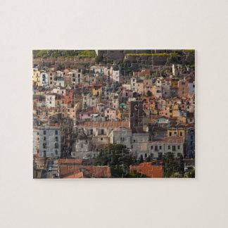 Italy, Sardinia, Bosa. Town view with Castello Puzzle