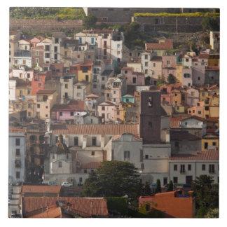 Italy, Sardinia, Bosa. Town view with Castello Tile