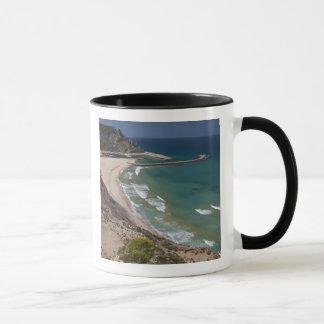 Italy, Sardinia, Buggerru. Buggerru beach and Mug