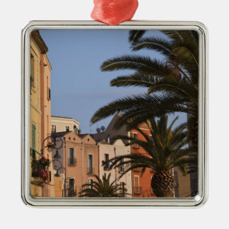 Italy, Sardinia, Cagliari. Buildings and palms Christmas Ornament