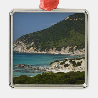 Italy, Sardinia, Solanas. Beach. Christmas Ornament