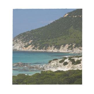 Italy, Sardinia, Solanas. Beach. Notepad