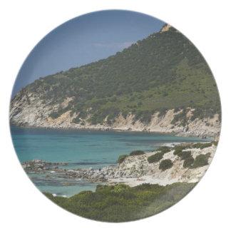Italy, Sardinia, Solanas. Beach. Plate