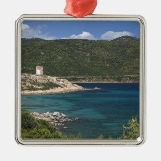 Italy, Sardinia, Teulada. Spanish tower. Christmas Ornament