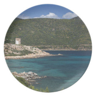 Italy, Sardinia, Teulada. Spanish tower. Party Plate