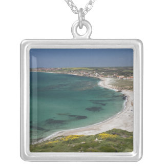 Italy, Sardinia, Tharros. View from the Silver Plated Necklace