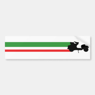 Italy Scooter streaks Bumper Sticker