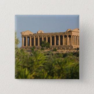 Italy, Sicily, Agrigento, La Valle dei Templi, 4 15 Cm Square Badge