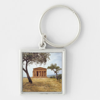 Italy, Sicily, Agrigento. The ruins of the 2 Silver-Colored Square Key Ring
