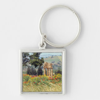 Italy, Sicily, Agrigento. The ruins of the Silver-Colored Square Key Ring