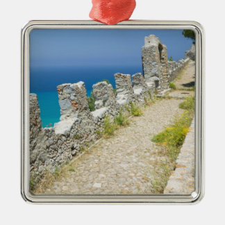 Italy, Sicily, Cefalu, Cliffside Walkway, La Christmas Ornament