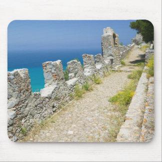 Italy, Sicily, Cefalu, Cliffside Walkway, La Mouse Mat