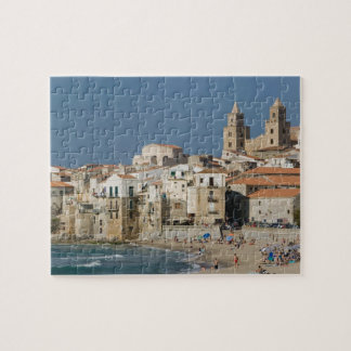 Italy, Sicily, Cefalu, Town View with Duomo from Jigsaw Puzzle