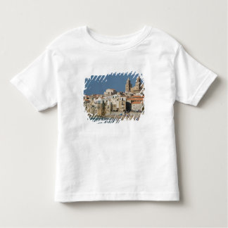 Italy, Sicily, Cefalu, Town View with Duomo from Toddler T-Shirt