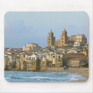 Italy, Sicily, Cefalu, View with Duomo from 2 Mouse Mat