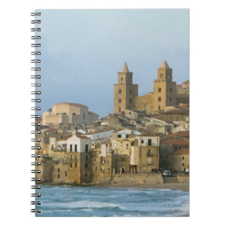 Italy, Sicily, Cefalu, View with Duomo from 2 Notebook
