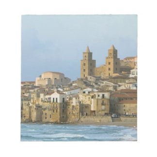 Italy, Sicily, Cefalu, View with Duomo from 2 Notepad