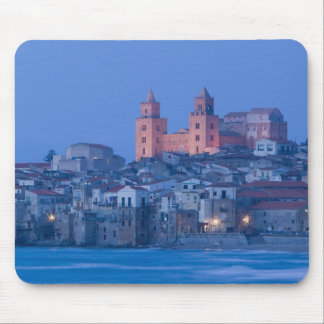 Italy, Sicily, Cefalu, View with Duomo from Mouse Mat