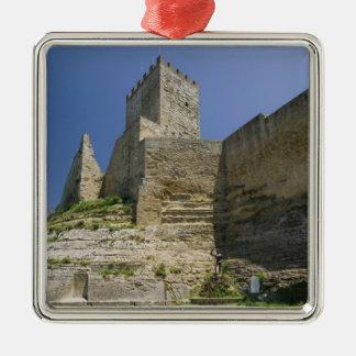 Italy, Sicily, Enna, Calascibetta, Castello di Christmas Ornament