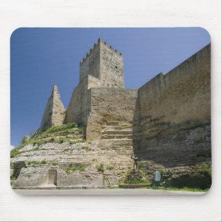 Italy, Sicily, Enna, Calascibetta, Castello di Mouse Pad