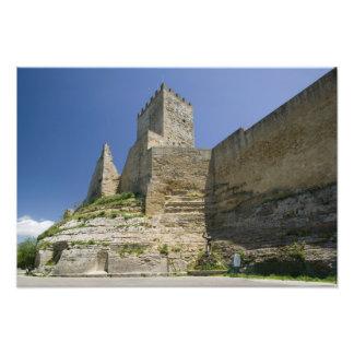 Italy, Sicily, Enna, Calascibetta, Castello di Photo Print