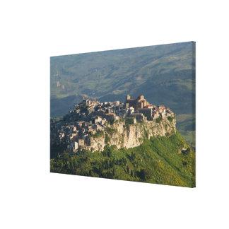 Italy, Sicily, Enna, Calascibetta, Morning View 2 Canvas Print