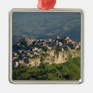 Italy, Sicily, Enna, Calascibetta, Morning View 2 Christmas Ornament