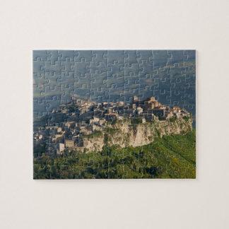 Italy, Sicily, Enna, Calascibetta, Morning View 2 Jigsaw Puzzle