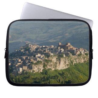 Italy, Sicily, Enna, Calascibetta, Morning View 2 Laptop Sleeve