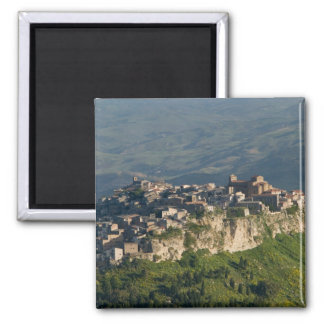 Italy, Sicily, Enna, Calascibetta, Morning View 2 Square Magnet