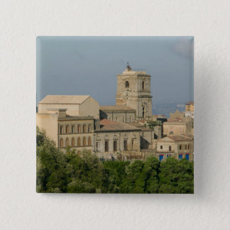 Italy, Sicily, Enna, Town View from Rocca di 2 15 Cm Square Badge