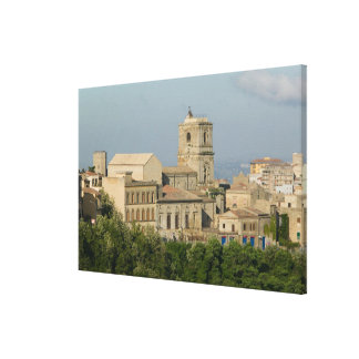 Italy, Sicily, Enna, Town View from Rocca di 2 Canvas Print