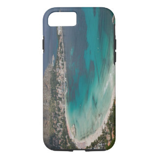 Italy, Sicily, Mondello, View of the beach from iPhone 8/7 Case
