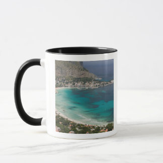 Italy, Sicily, Mondello, View of the beach from Mug