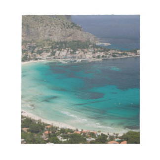 Italy, Sicily, Mondello, View of the beach from Notepad