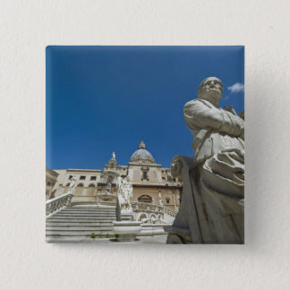 Italy, Sicily, Palermo, fountain with bust and 15 Cm Square Badge