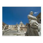 Italy, Sicily, Palermo, fountain with bust and Post Cards