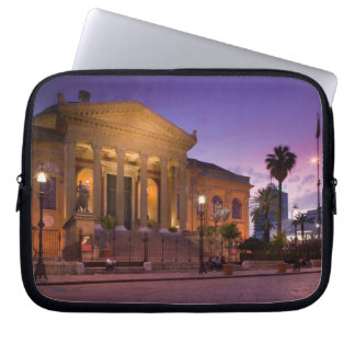Italy, Sicily, Palermo, Teatro Massimo Opera Laptop Sleeve