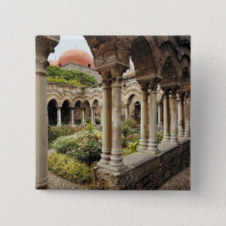 Italy, Sicily, Palermo. The cloisters survive as 15 Cm Square Badge