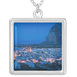 Italy, Sicily, SAN VITO LO CAPO, Resort Town Silver Plated Necklace