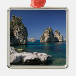 Italy, Sicily, Scopello, Rocks by Tonnara Christmas Ornament