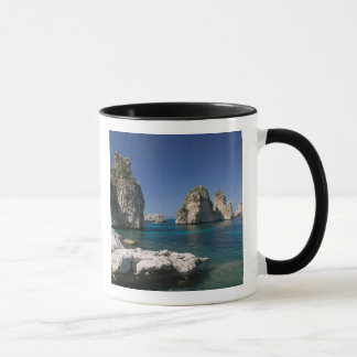 Italy, Sicily, Scopello, Rocks by Tonnara Mug