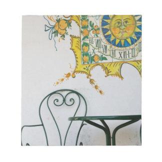 ITALY, Sicily, TAORMINA: Bam, Bar Cafe Detail Notepad