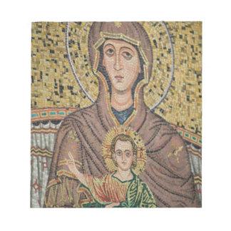 ITALY, Sicily, TAORMINA: Corso Umberto 1, Mosaic Notepads