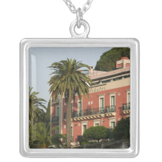 ITALY, Sicily, TAORMINA: Hotel Schuler Silver Plated Necklace